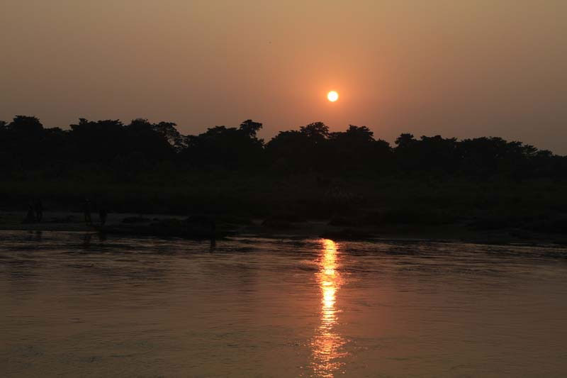 Sunset view at Chitwan