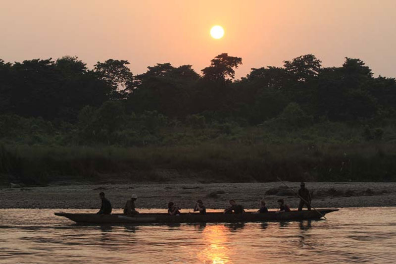 Boating in Chitwan