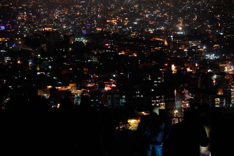 Night view of Kathmandu Valley